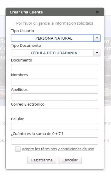 Registro en SNR
