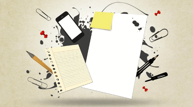 Material de oficina y tecnológico para estudiar