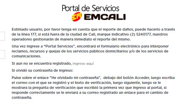 Información de EMCALI